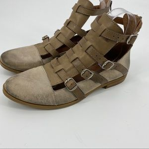 Lucky Brand distressed leather booties Hotcha-8.5
